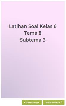 Latihan Soal SD Kelas 6 Tema 8 screenshot 1