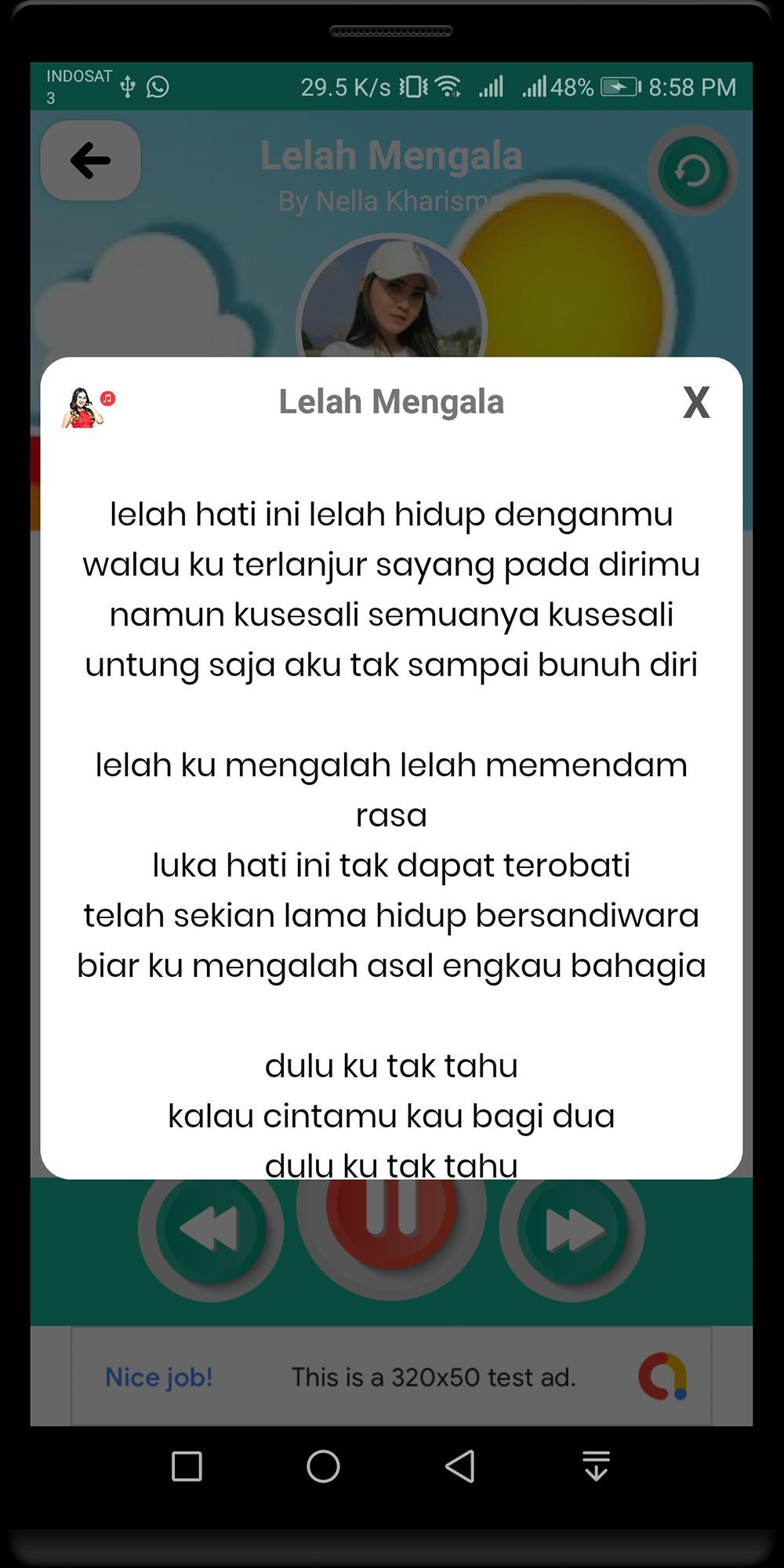 Lagu Nella Kharisma Lelah Mengalah Lirik For Android