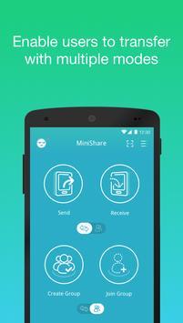 Zapya MiniShare - Mini Size File Transfer App poster