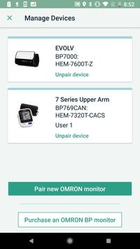 OMRON connect US/CAN screenshot 2