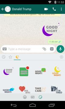 Night & Evening WhatsApp Stickers screenshot 3