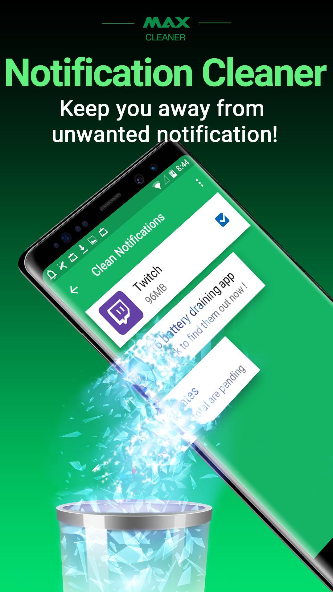 Aplikasi terbaru samsung android MAX Cleaner