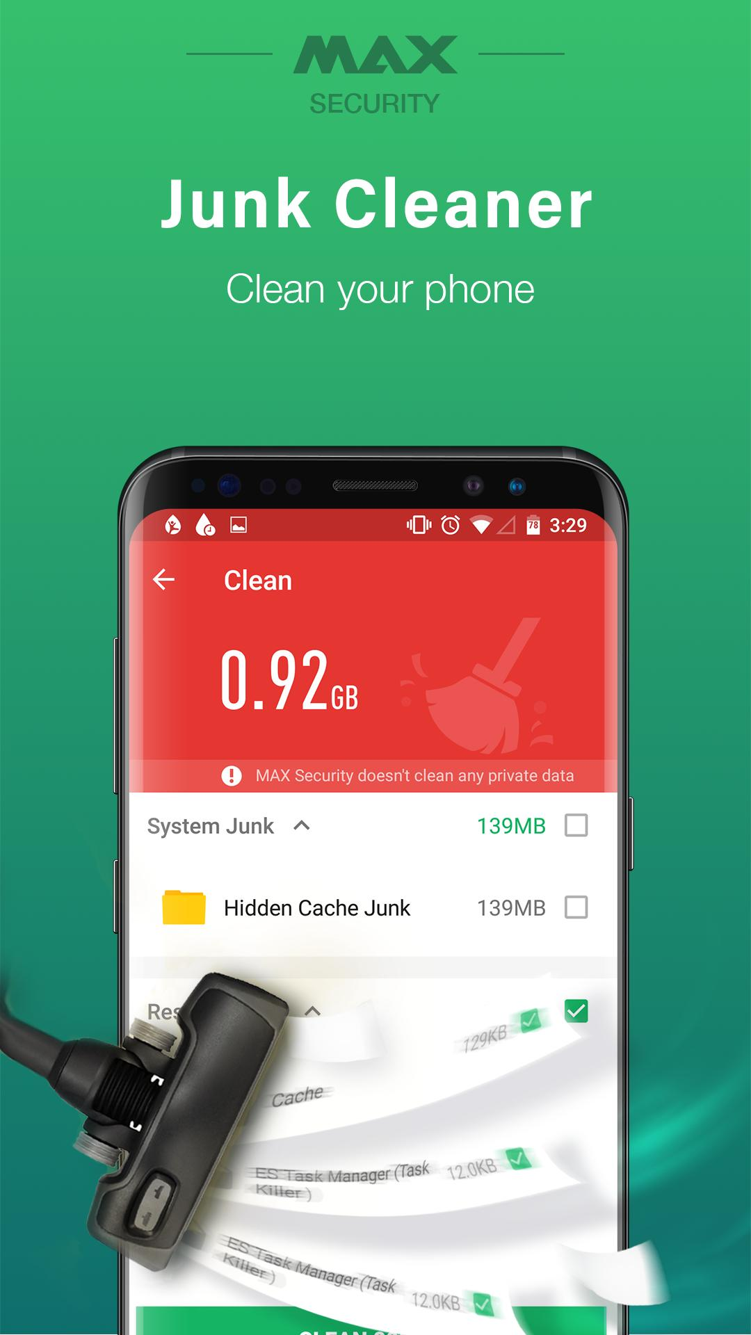 Virus Cleaner, Antivirus, Cleaner (MAX Security) for Android