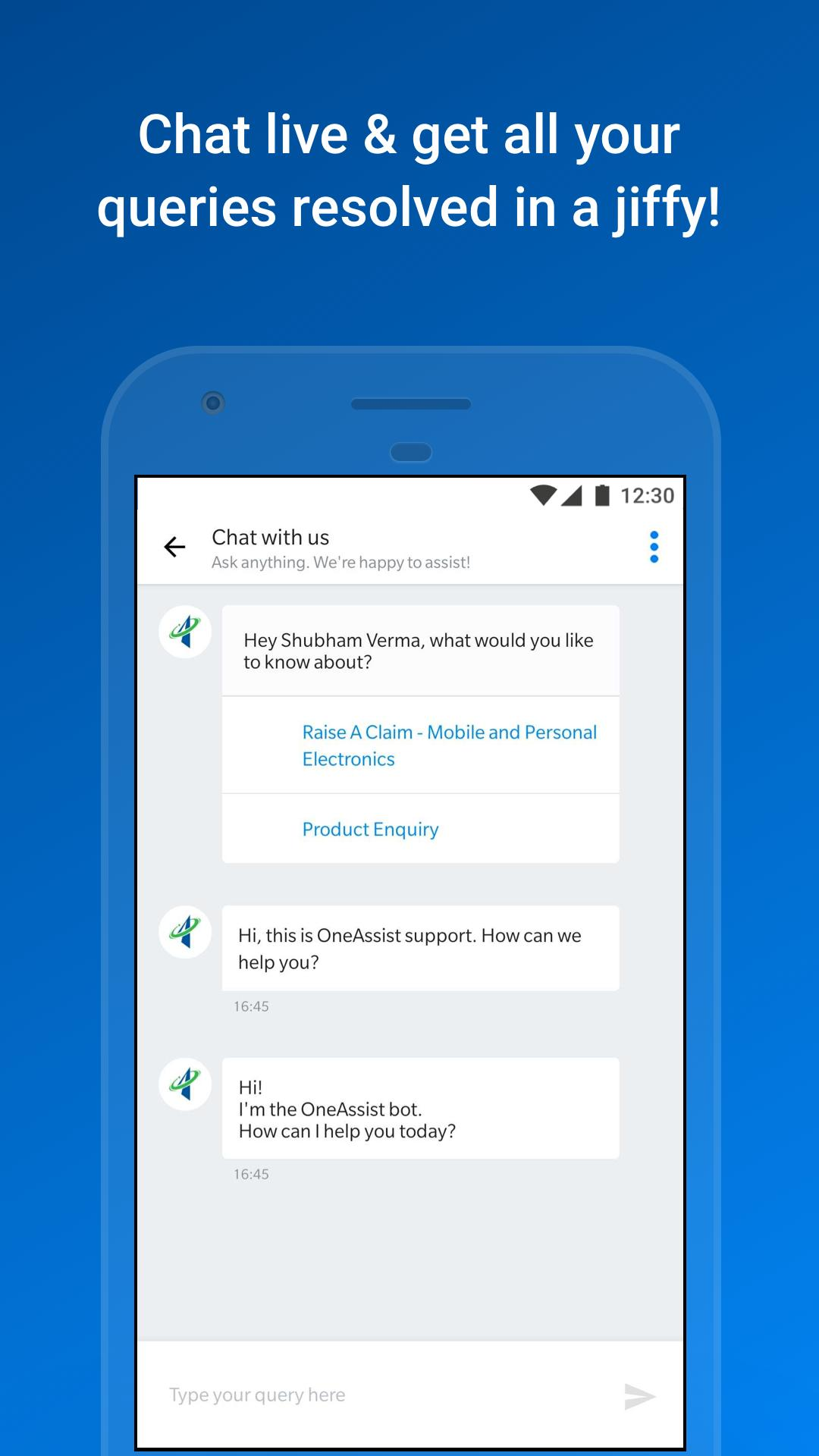 OneAssist for Android - APK Download
