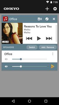 Onkyo Music Control App 截图 3