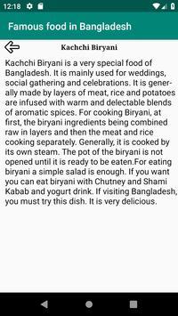 Famous food in Bangladesh screenshot 2