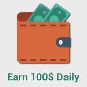 20 Ways To Make $100 Per Day Online icon
