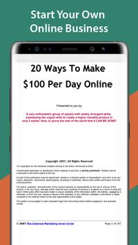 20 Ways To Make $100 Per Day Online screenshot 1