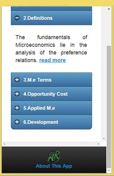 Basics of Microeconomics screenshot 1