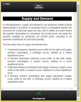 Basics of Microeconomics screenshot 3