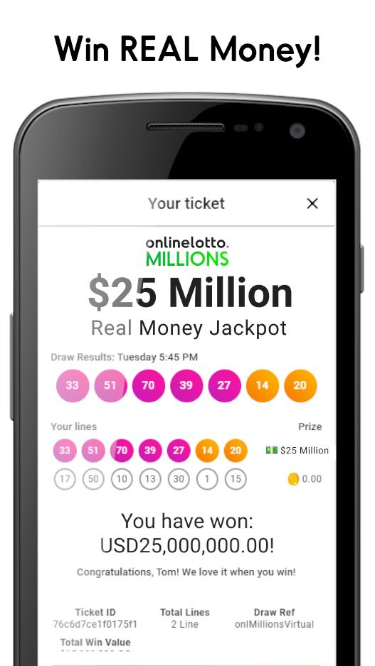 Online Lotto Win 25 Million Real Money Jackpot For Android Apk