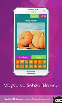 Meyve ve Sebze Bilmece screenshot 3