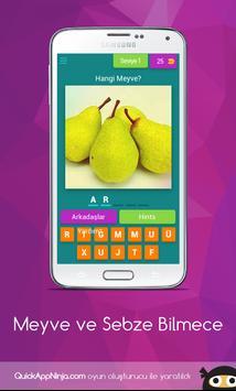 Meyve ve Sebze Bilmece poster