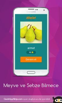 Meyve ve Sebze Bilmece screenshot 1