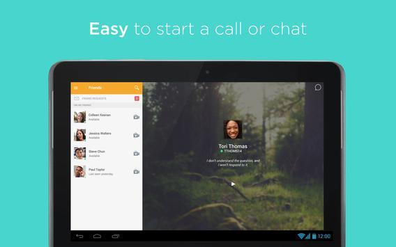 ooVooのビデオ通話、テキストメッセージ、および音声通話 スクリーンショット 8