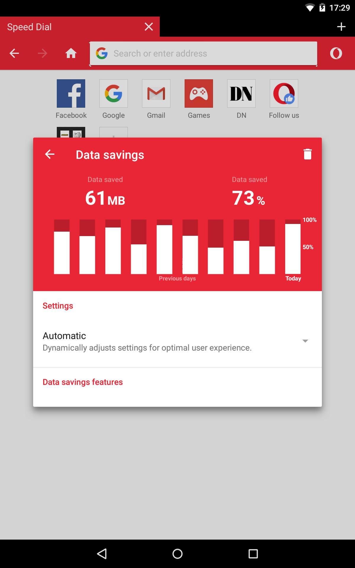 opera mini beta for android uptodown