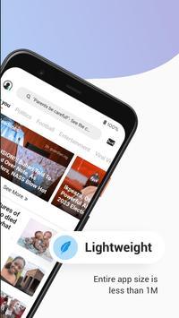Opera News Lite - Less Data, More News ảnh chụp màn hình 1