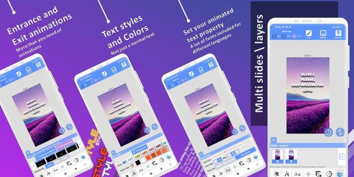 Animated Text Creator - Text Animation video maker Ekran Görüntüsü 3