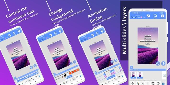 Animated Text Creator - Text Animation video maker Ekran Görüntüsü 4