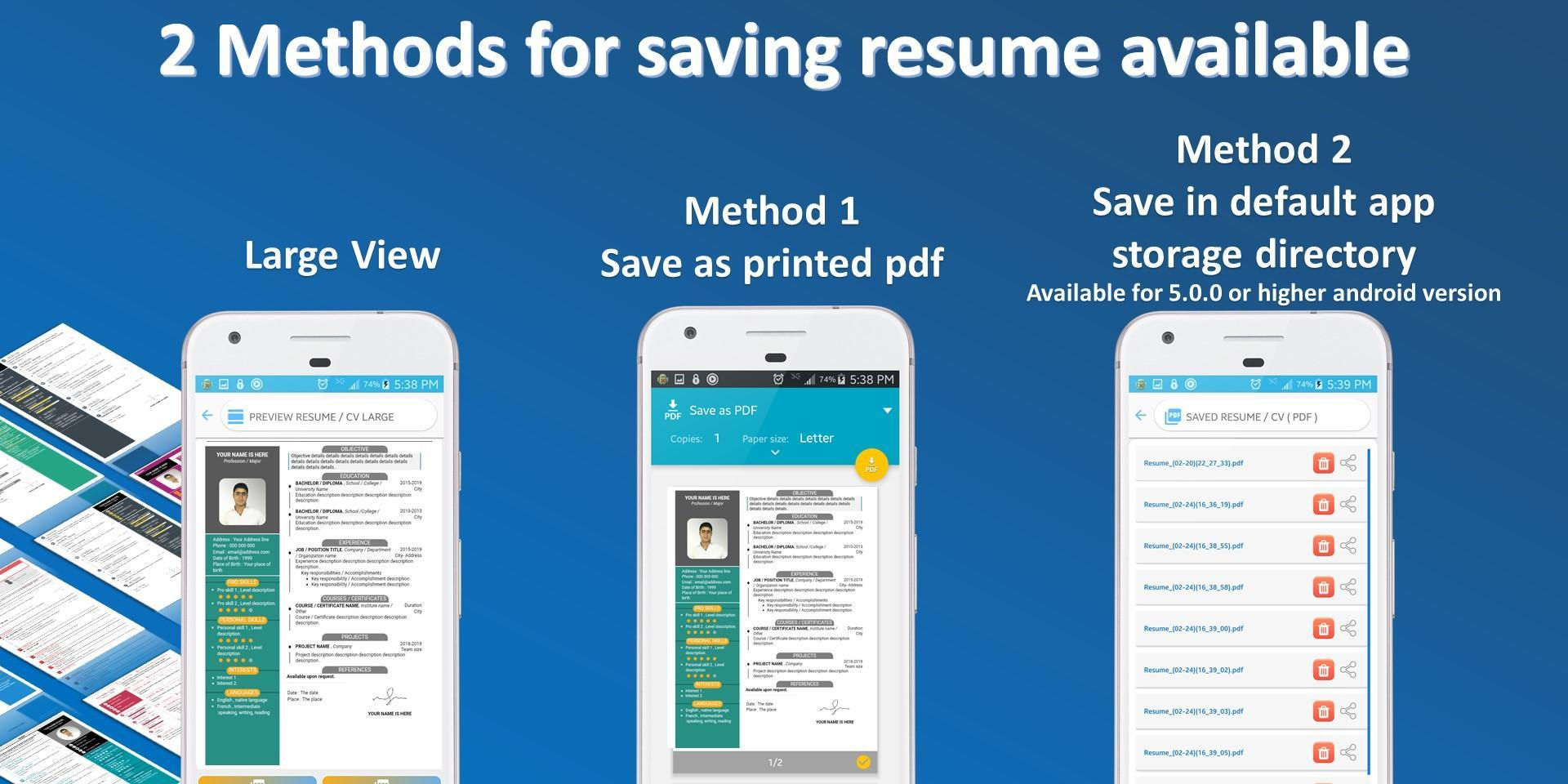 Resume Builder Pro Cv Maker Pro Multi Language For Android Apk Download