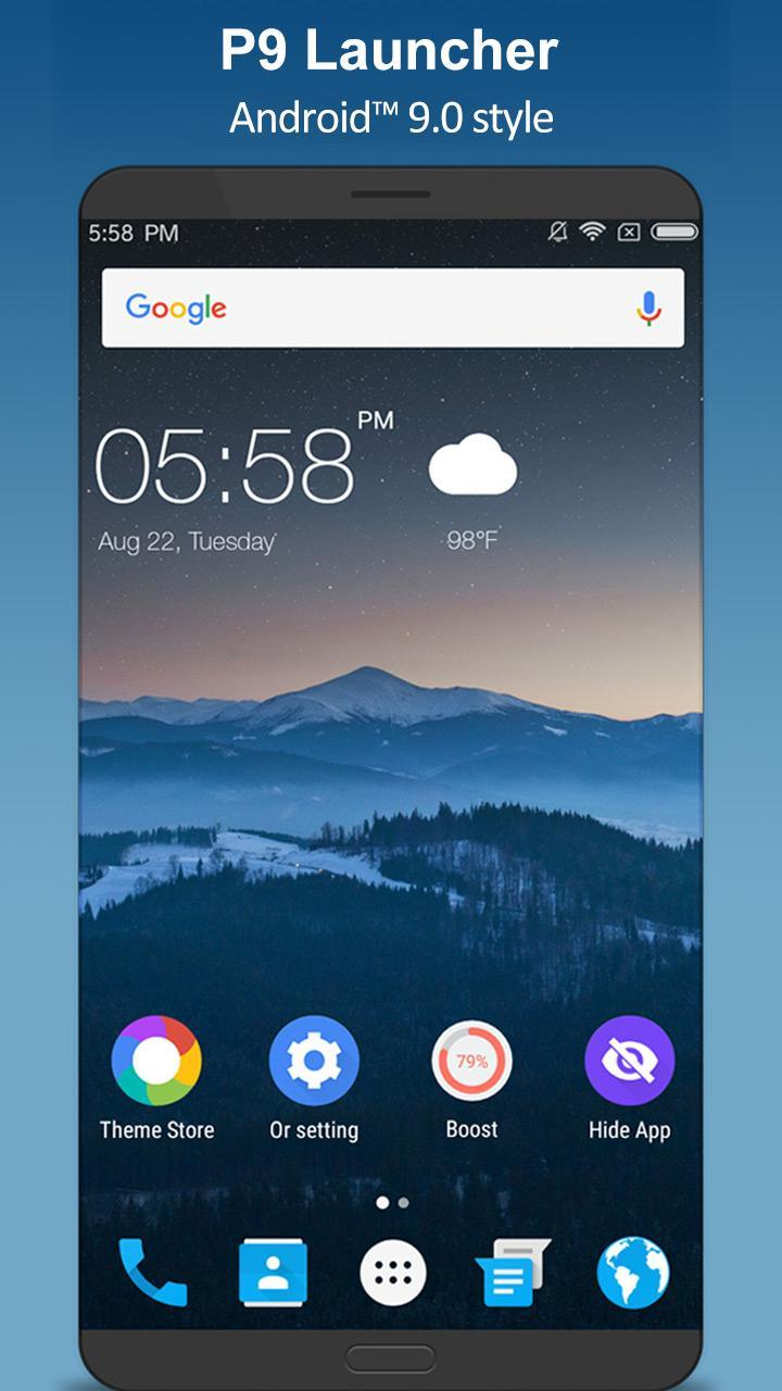 P 9 0 Launcher - 9 0 Pie Launcher 👍 for Android - APK Download