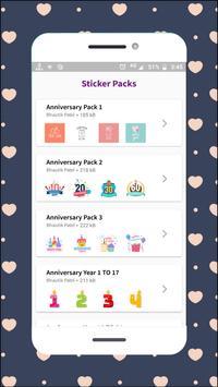 Anniversary Stickers screenshot 2