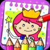 ikon Putri Buku Mewarnai dan Permainan