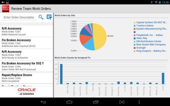 Team Work Orders - JDE E1 screenshot 2