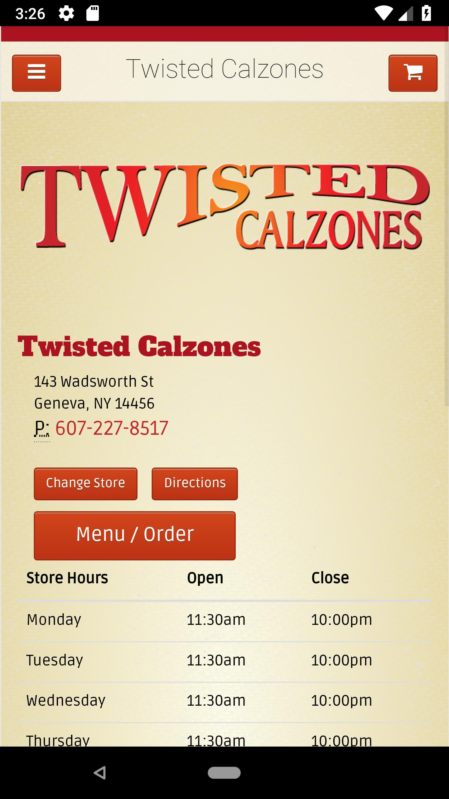 Twisted Calzones poster