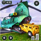 US Offroad Army Cargo Plane Transport Sim 2019 icon
