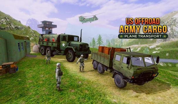 US Offroad Army Cargo Plane Transport Sim 2019 screenshot 8
