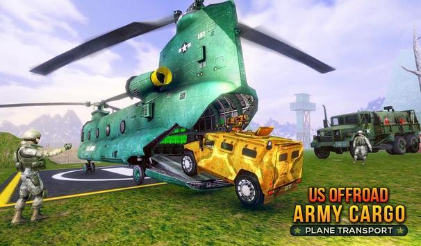 US Offroad Army Cargo Plane Transport Sim 2019 screenshot 14