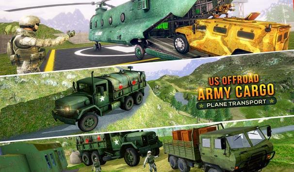 US Offroad Army Cargo Plane Transport Sim 2019 screenshot 2