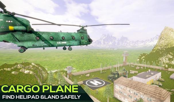 US Offroad Army Cargo Plane Transport Sim 2019 screenshot 3