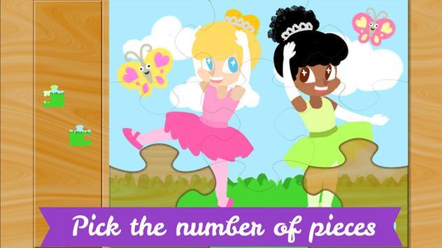 Ballerina Puzzles for Kids screenshot 1