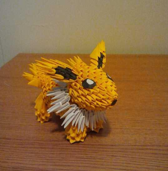 3D origami vase with flower | Atelier Ilyere | 546x538