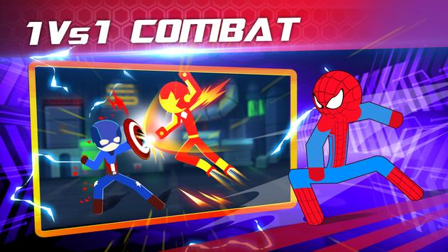 Super Stickman Heroes Fight poster