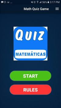 Math Quiz Game, Mathematics poster