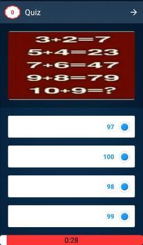 Math Quiz Game, Mathematics screenshot 7