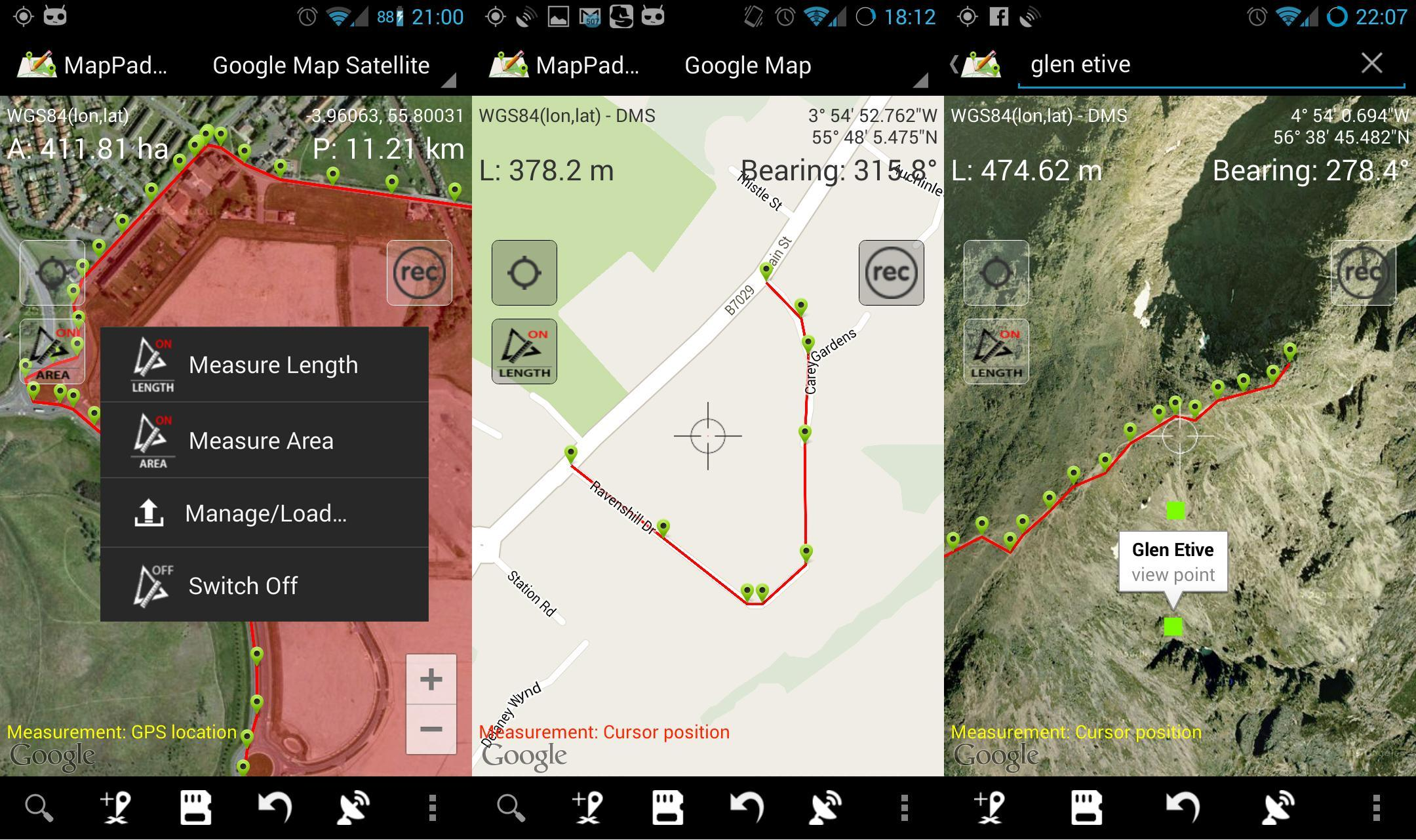 Map Pad GPS Land Surveys & Measurements for Android - APK