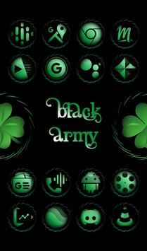 Black Army Emerald - Icon Pack - Fresh dashboard poster