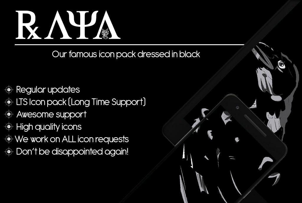 Resultado de imagen de Raya Black Icon Pack