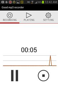 Good mp3 recorder screenshot 1