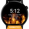 Flames Watch Face - Wear OS Smartwatch - Animated ikona