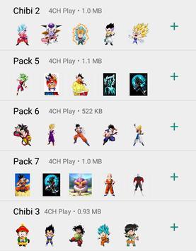 Dragon Ball Stickers captura de pantalla 3