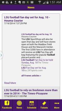 Football News - LSU Edition screenshot 1