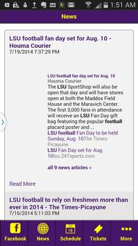 Football News - LSU Edition screenshot 5