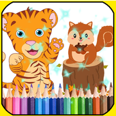 free coloring book : Drawing and coloring icon