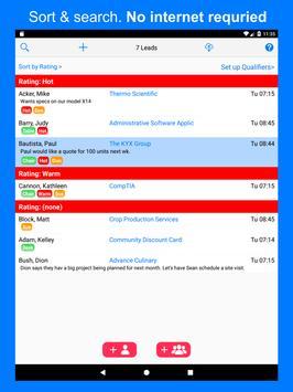 1stSales Lead Retrieval : Badge scanner & Tracker screenshot 8