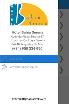 HOTEL BAHIA SERENA poster